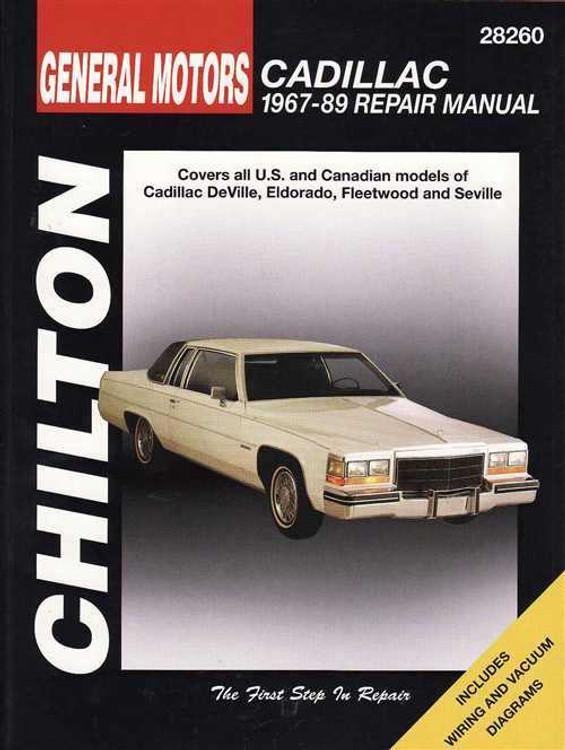 Cadillac 1967 - 1989 Workshop Manual