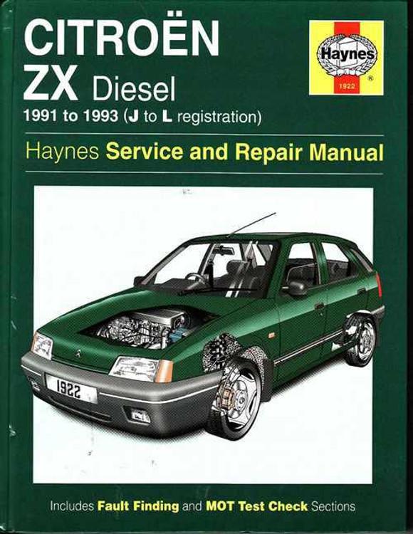 Citroen ZX (diesel) 1991 - 1993 Workshop Manual