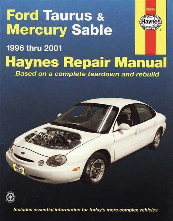 Ford Taurus and Mercury Sable 1996 - 2001 Workshop Manual