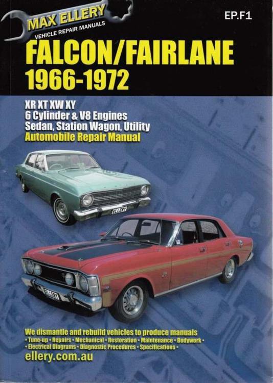 Ford Falcon, Fairlane XR - XT - XW - XY 1966 - 1972 Workshop Manual