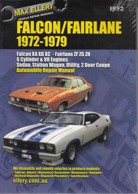 Ford Falcon XA-XB-XC , Fairlane ZF, ZG, ZH 1972 - 1979 Workshop Manual - front