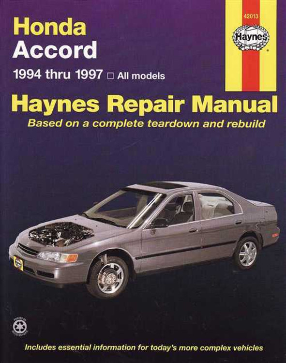 Honda Accord 1994 - 1997 Workshop Manual