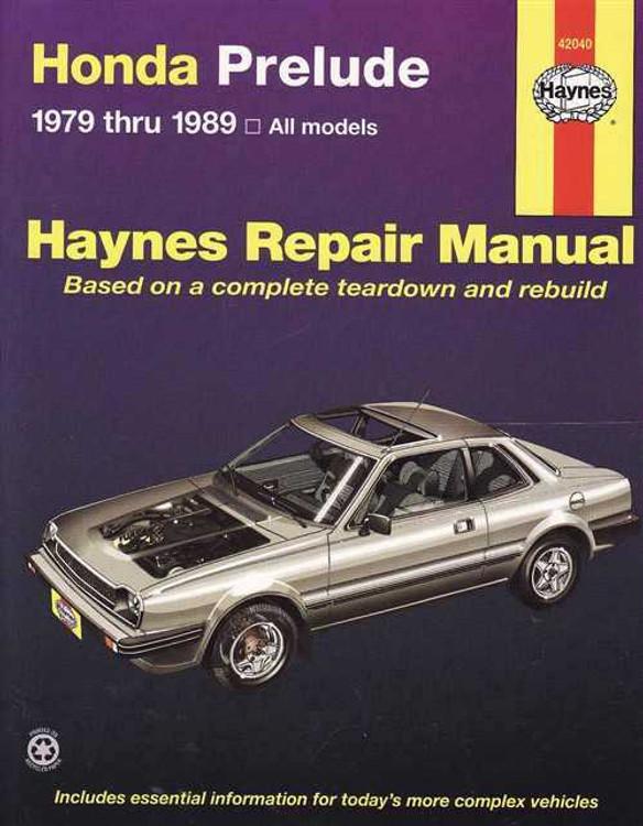 Honda Prelude 1979 - 1989 Workshop Manual