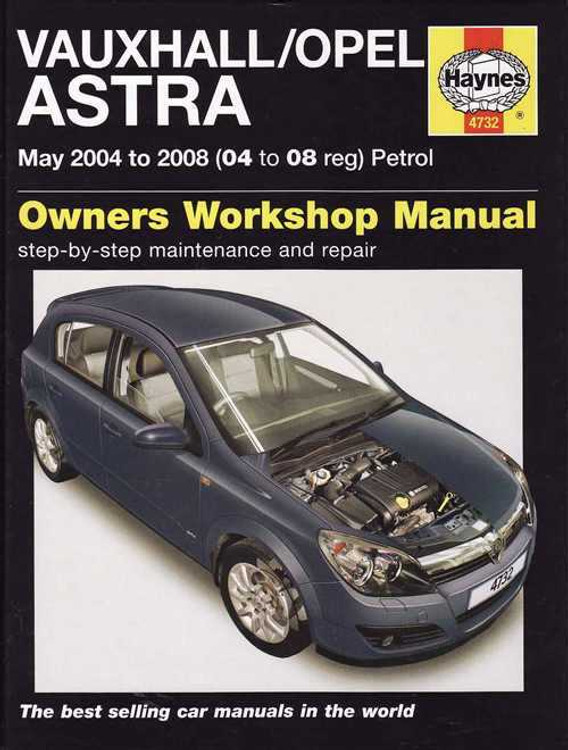 Holden Astra 2004 - 2008 Petrol Workshop Manual