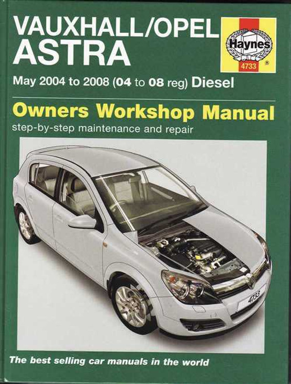 Holden (Vauxhall/Opel) Astra AH 2004 - 2008 Diesel Workshop Manual