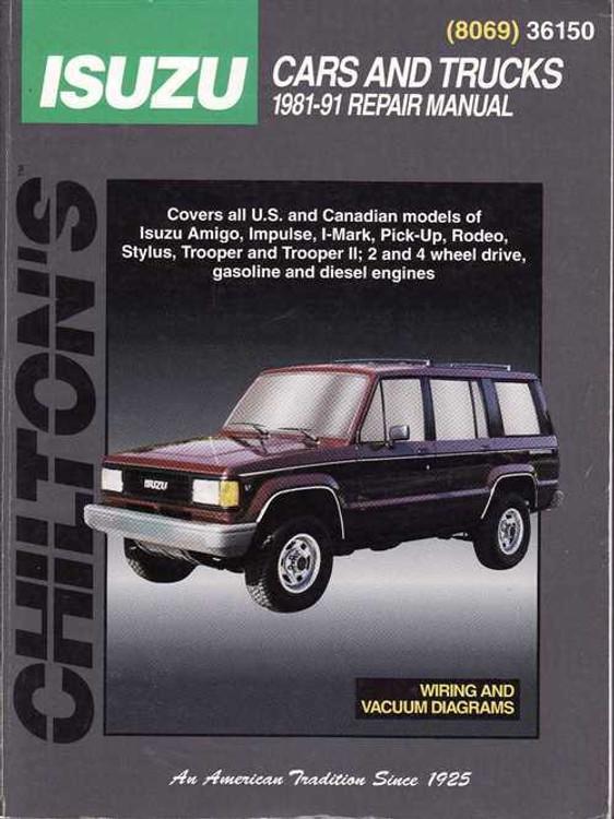 Holden Rodeo, Jackaroo (Isuzu) 1981 - 1991 Workshop Manual