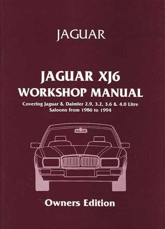 Jaguar XJ6 / XJ40 1986 - 1994 Workshop Manual