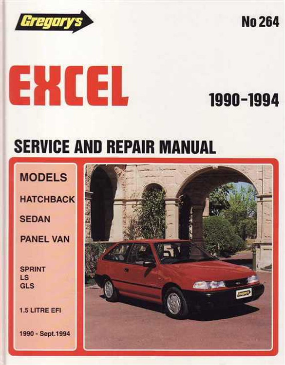 Hyundai Excel 1990 - 1994 Workshop Manual