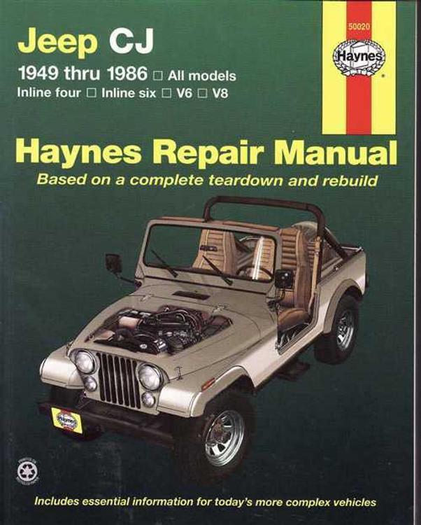 Jeep CJ 1949 - 1986 Workshop Manual