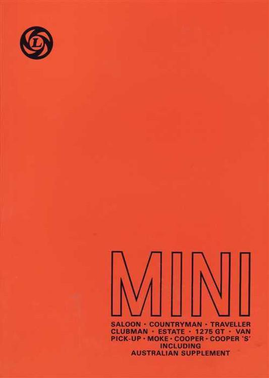 MINI Workshop Manual with Australian Supplement