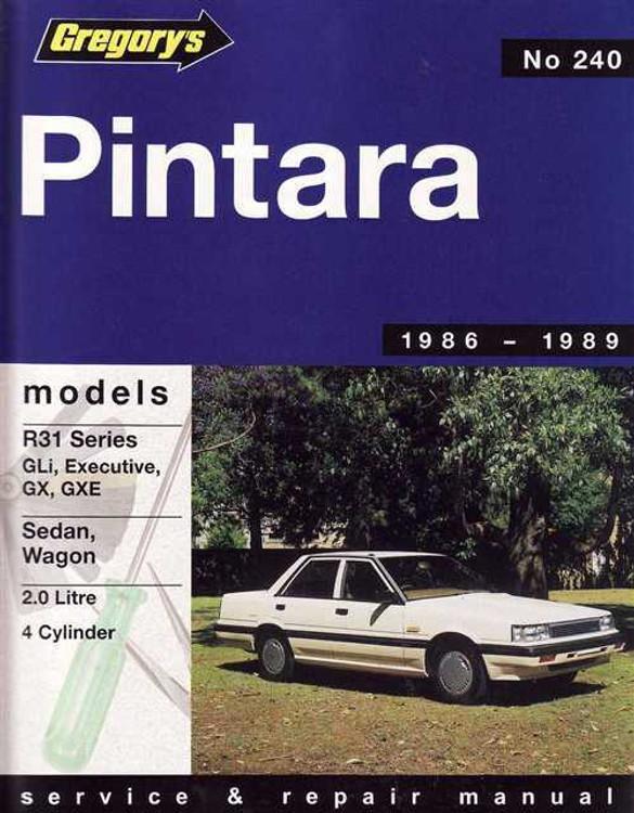 Nissan Pintara 1986 - 1989 Workshop Manual
