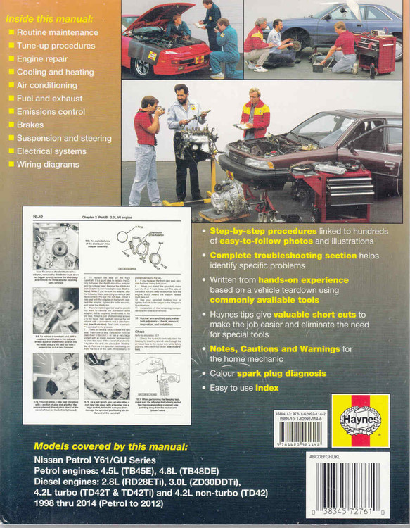 Nissan Patrol GU Series 1998 - 2014 Workshop Manual - back