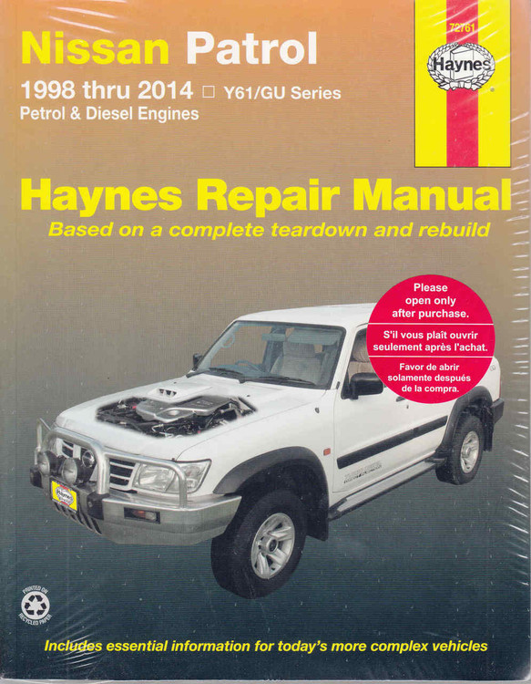 Nissan Patrol GU Series 1998 - 2014 Workshop Manual - front