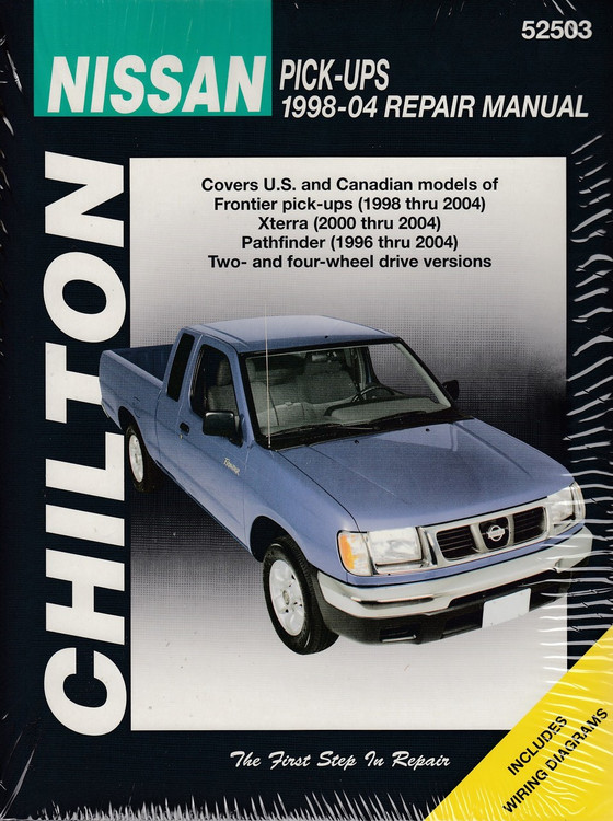 Nissan Pick-Ups (Frontier, Xterra, Pathfinder) 1998 - 2004 Workshop Manual (9781563926525)