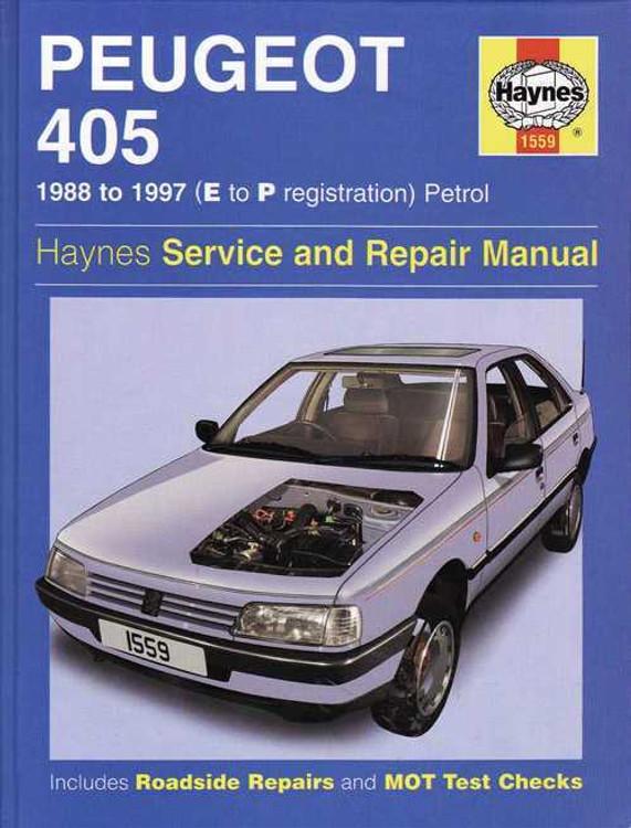 Peugeot 405 Petrol 1988 - 1997 Workshop Manual