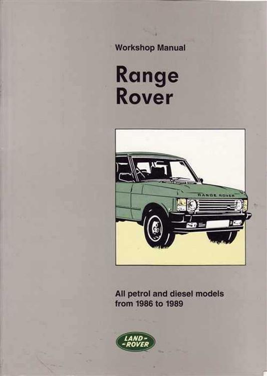 Range Rover 1986 - 1989 Workshop Manual