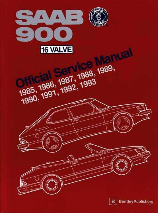 Saab 900 16 Valve 1985 - 1993 Workshop Manual