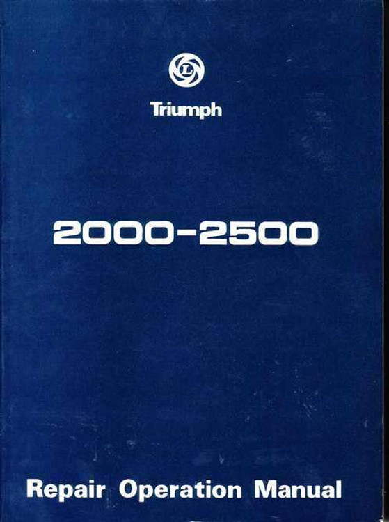 Triumph 2000 - 2500 Workshop Manual
