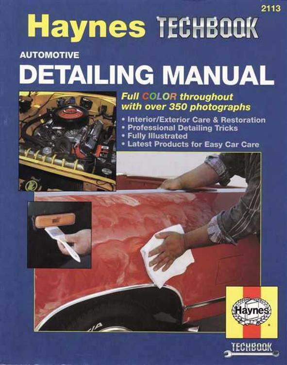 The Haynes Automotive Detailing Manual