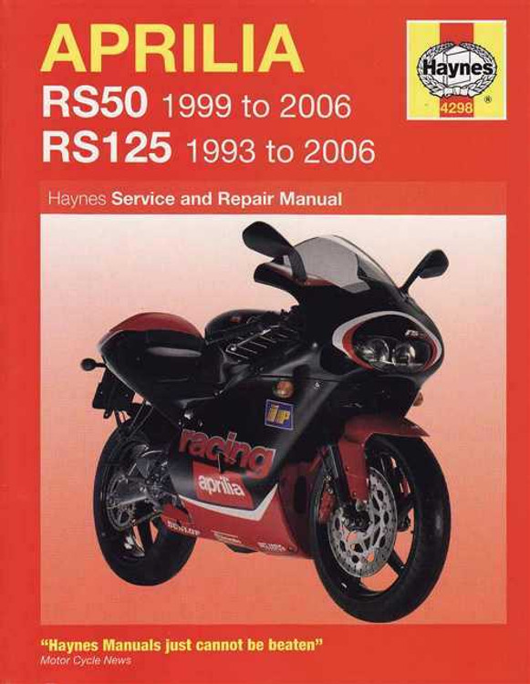 Aprilia RS50 & RS125 1993 - 2006 Workshop Manual