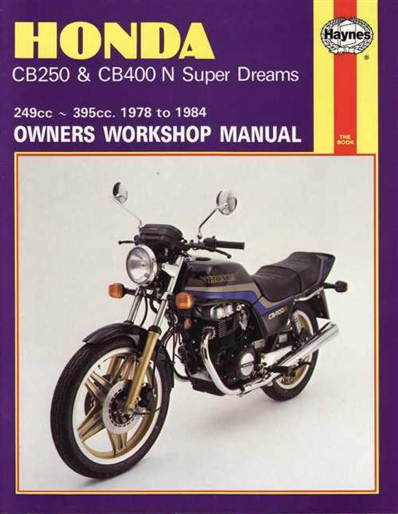 Honda CB250 & CB400 N Super Dreams 249cc, 395cc 1978 - 1984 Workshop Manual