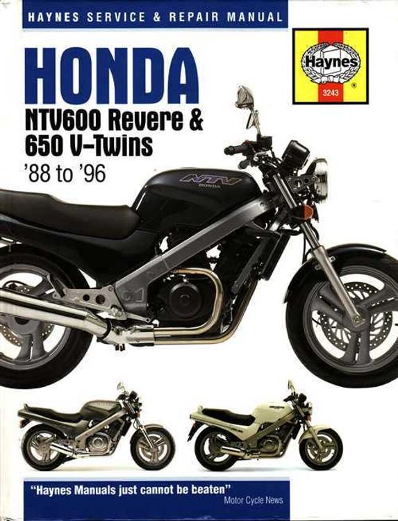 Honda NTV600 Revere & NTV650 V-Twins 1988 - 1996 Workshop Manual