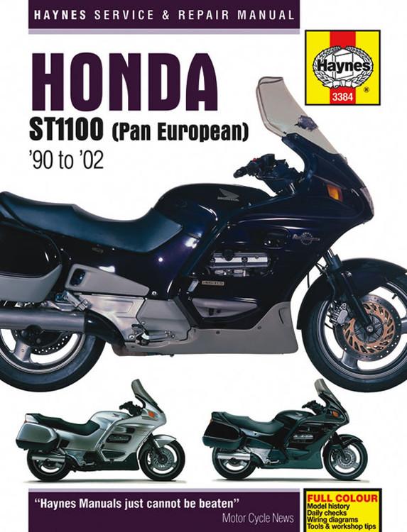 Honda ST1100 (Pan European) 1990 - 2002 Haynes Workshop Manual