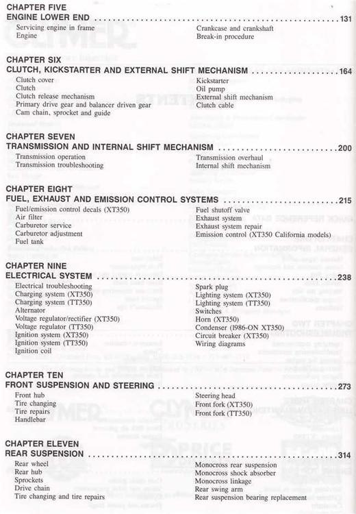 Yamaha XT350 and TT350 1985 - 2000 Workshop Manual on xs400 wiring diagram, xj550 wiring diagram, pw80 wiring diagram, xs650 wiring diagram, yzf-r1 wiring diagram, xs750 wiring diagram, xt225 wiring diagram, xs850 wiring diagram, it 250 wiring diagram, fz700 wiring diagram, xt250 wiring diagram, xv535 wiring diagram, fjr1300 wiring diagram, sr500 wiring diagram, rd400 wiring diagram, xt600 wiring diagram, sr250 wiring diagram, wr450f wiring diagram, fzr1000 wiring diagram, fj1100 wiring diagram,