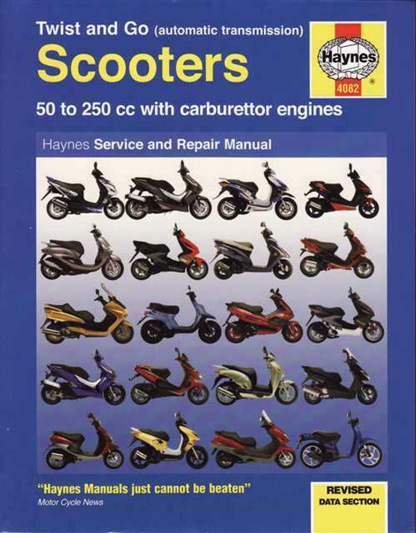 Scooters 50 - 250cc, Carburettor Engines, Automatic Transmission Workshop Manual