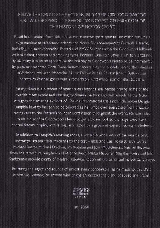 Goodwood: 2008 Festival of Speed DVD