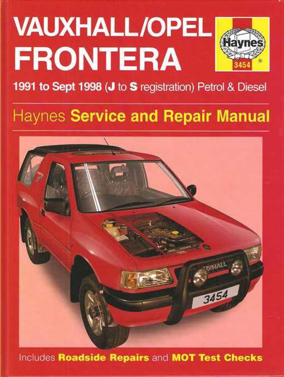 Holden Frontera Petrol and Diesel 1991 - 1998 Workshop Manual