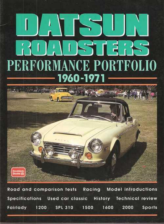 Datsun Roadsters Performance Portfolio 1960 - 1971