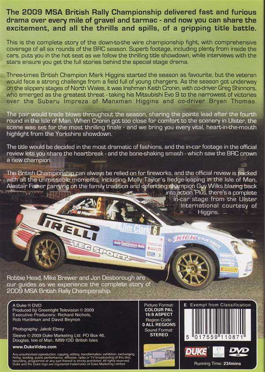 British Rally Championship 2009: The Official MSA British Rally Championship Rev