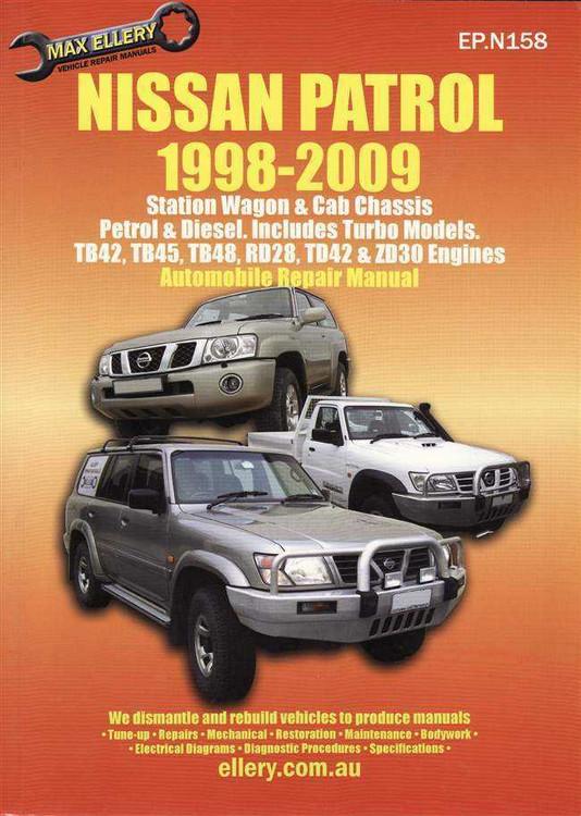 Nissan Patrol Petrol, Diesel (Incl. Turbo Models) 1998 - 2009 Workshop Manual