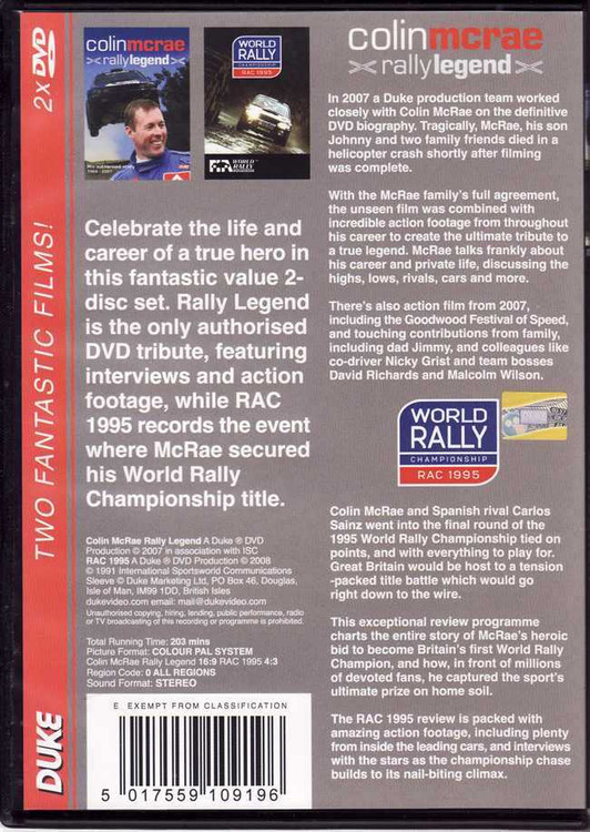 Colin McRae Rally Legend Collection (2xDVD)
