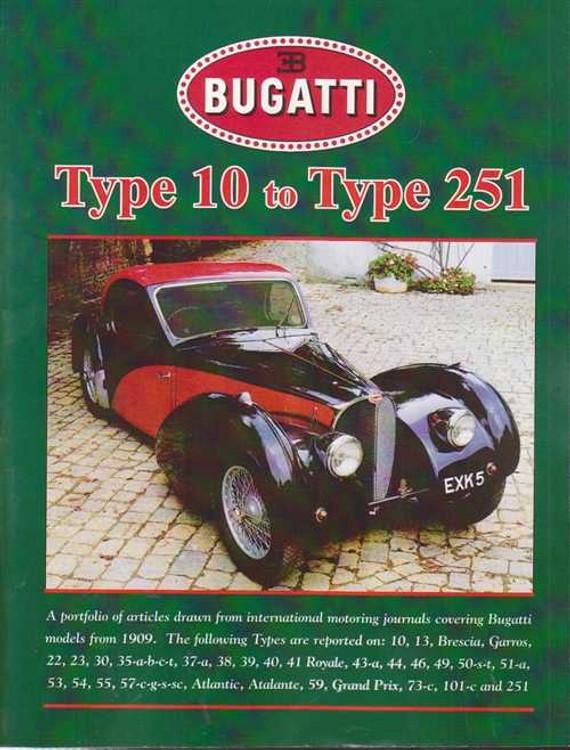 Bugatti Type 10 to Type 251 Portfolio