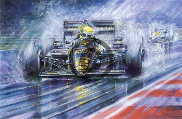 Ayrton Senna - Estoril 1985 Print