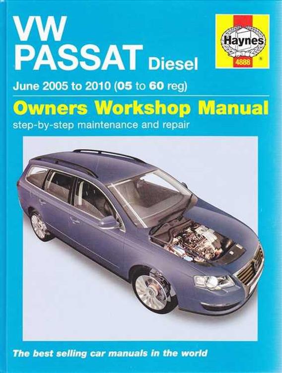 Volkswagen Passat Diesel 1.9L, 2L 2005 - 2010 Workshop Manual