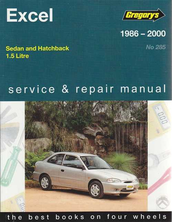 Hyundai Excel 1.5 Litre 1986 - 2000 Workshop Manual