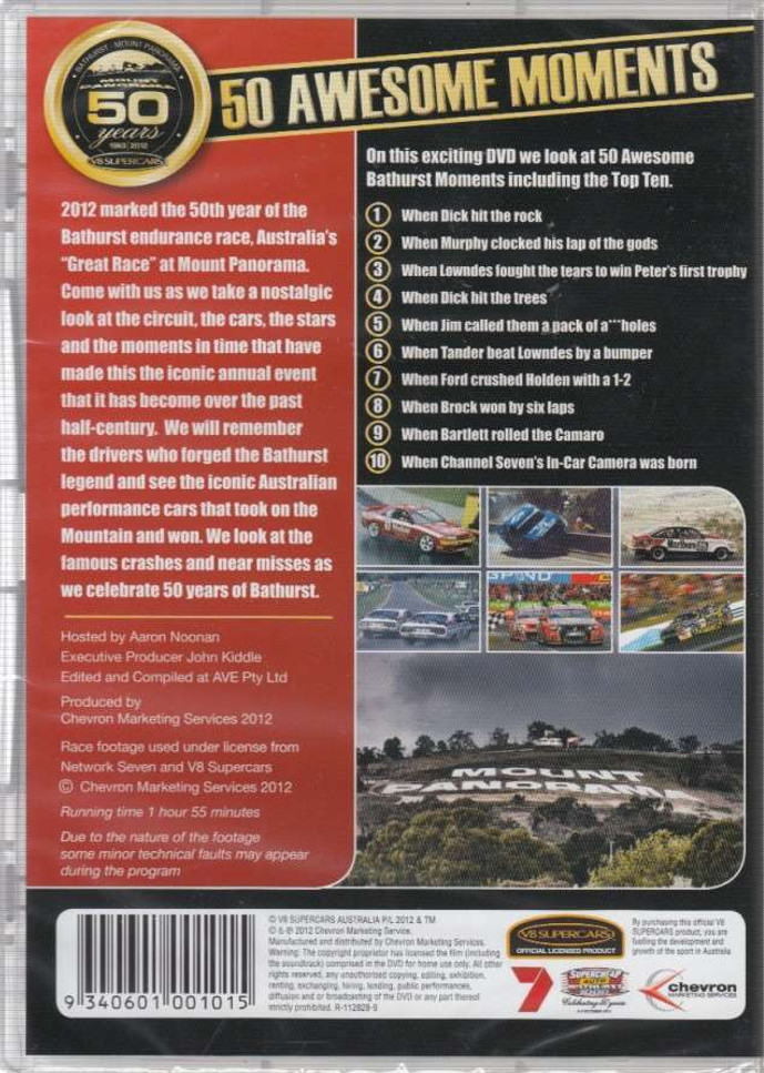 50 Years Of Bathurst: 50 Awesome Moments DVD Back Cover