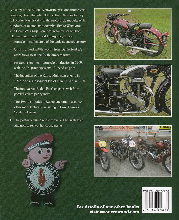 Rudge-Whitworth The Complete Story Back Cover