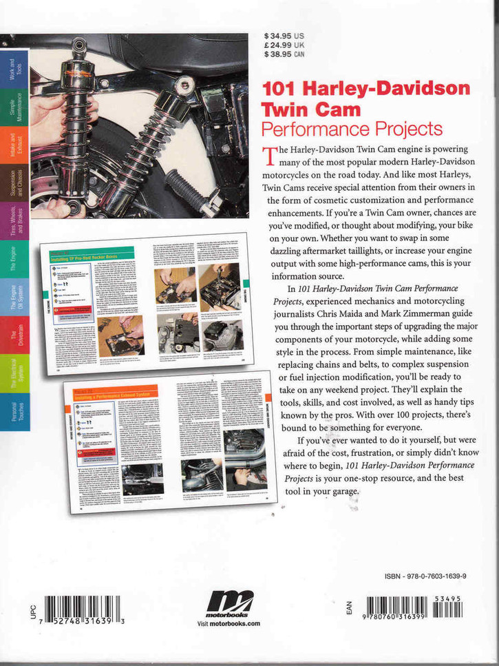 101 Harley-Davidson Twin Cam Performance Projects - back