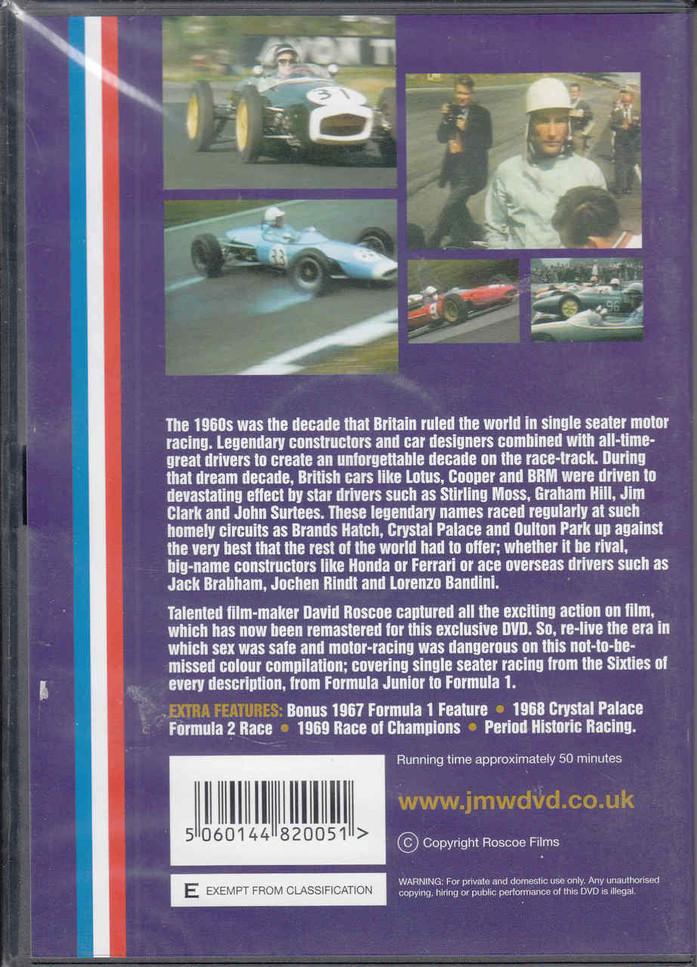 1960s British Single Seater Racing DVD - back