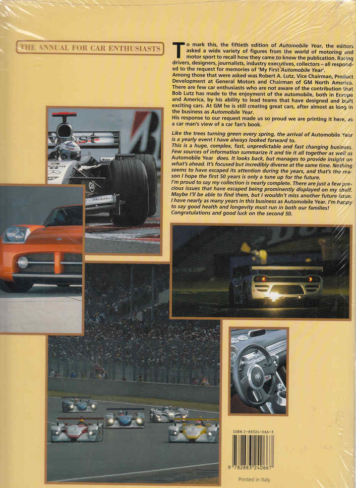 Automobile Year 2002 - 2003 Back Cover