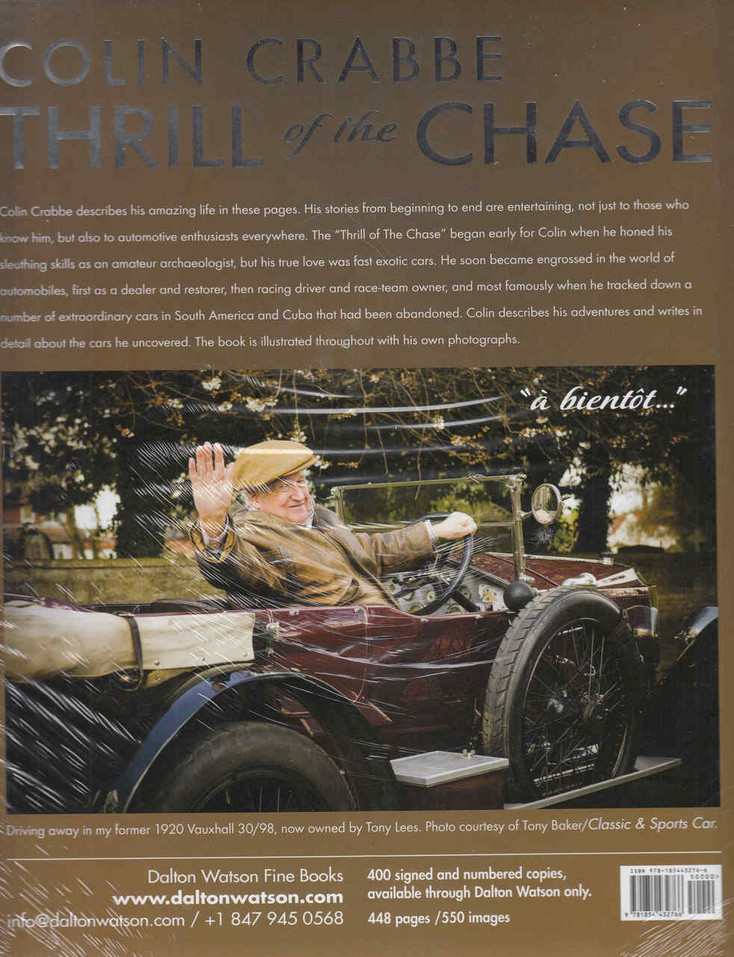 Colin Crabbe: Thrill Of The Chase (9781854432766)  - back