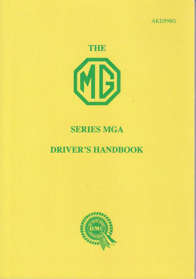 The MG Series MGA Driver's Handbook (AKD598G)