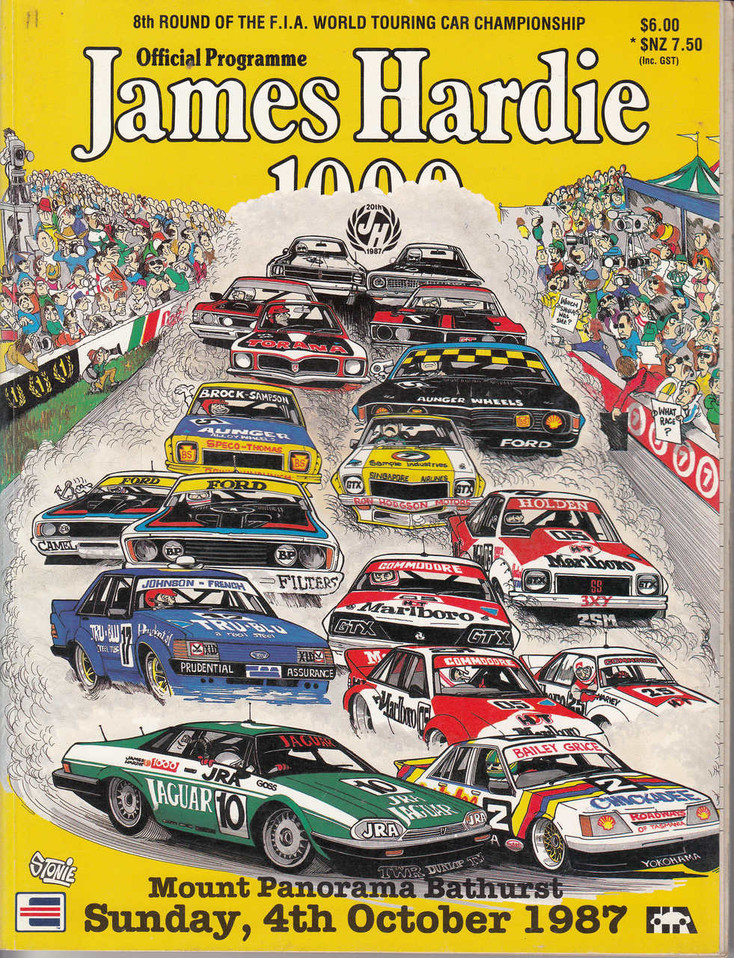 James Hardie 1000 Official Programme, Sunday 4th October 1987