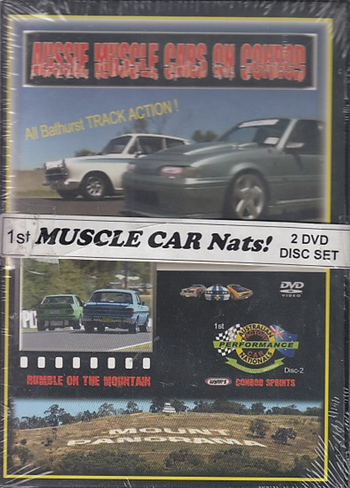 Aussie Muscle Cars on Conrod and Rumble on the Mountain DVD Set (2 dvds)