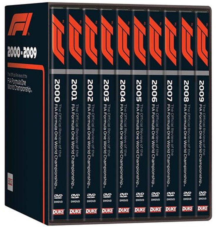 F1 2000 - 2009 - The Official Reviews of the FIA Formula One World Championship 10 DVD Box Set (5017559131753)