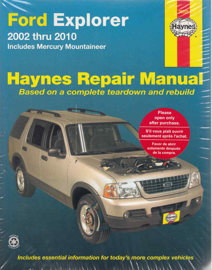 Ford Explorer 2002 - 2010 Workshop Manual (9781563928116)  - front